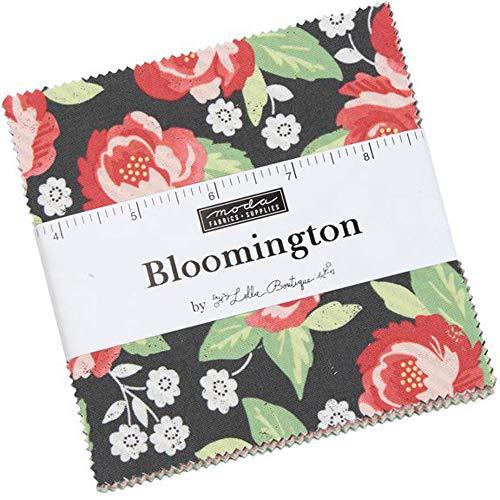 Bloomington Charm Pack por Lella Boutique; 106,7 cm - 12,7 cm de tela precortada