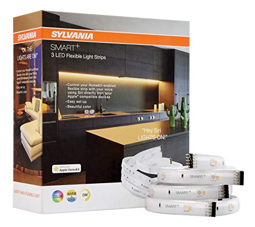SYLVANIA General Lighting 74521 Smart LED Flex Strip, Works with Apple HomeKit and Siri Voice Control, No Hub Required, 1 Pack, Adjustable White and Full Color