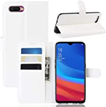Phone Case for OPPO AX5S / A5S Litchi Texture Wallet Leather Stand Protective Case TONWIN (Color : White)