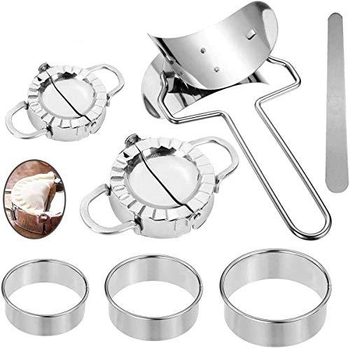 Edelstahl Ravioli Dumpling Maker Neu Küche Werkzeuge Knödel Jiaozi Hersteller Gerät Einfach DIY Knödel Schimmel Knödel Maker
