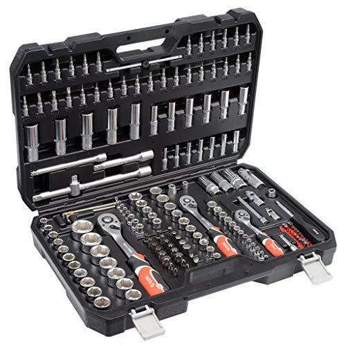 Roderick Ratschenschlüssel YATO 173-teilig Ratschenschlüssel Satz YT-38931 Schlüssel Satz Steckschlüsselsatz Steckschlüsselsatz Steckschlüsselsatz Stecknuss Typ: AS-Drive (Anti-Rutsch)