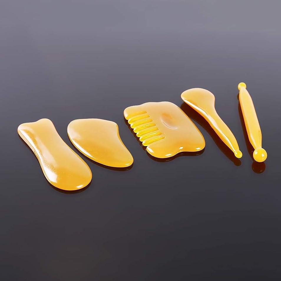 カセット軽減イルMARUIKAO 5点セット 刮痧サージボード カッサリフトプレート かっさプレート 美容 小顔 美肌カッサ美顔器
