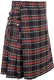 Chahuer Falda Escocesa Tradicional Escocesa a Cuadros para Hombre, tartán irlandés, Combate, Punk, gótico, Highland