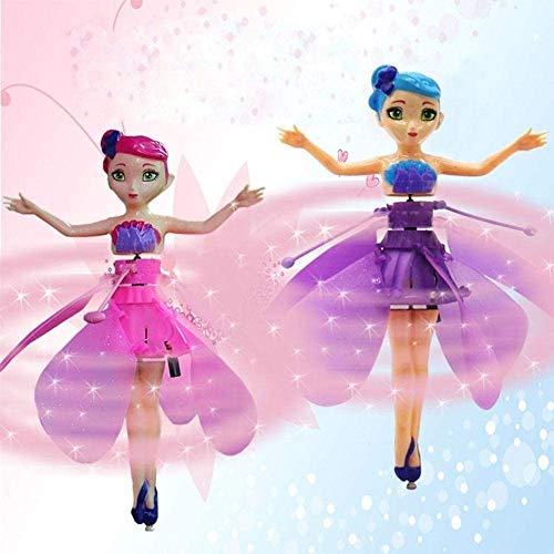 2 piezas voladoras muñeca muñeca flor, hadas y los sensores de luz infrarroja, sensores inteligentes aviones, juguetes infantiles rodillo eléctrico con ruedas juguetes, muñecas para los regalos de