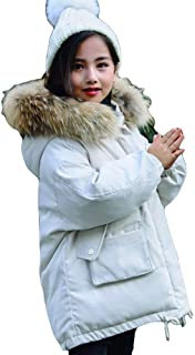Korean Version of Black and White Thick White Duck Down Children's Down Jacket, 2019 New Boys and Girls in The Long Coat,White,140