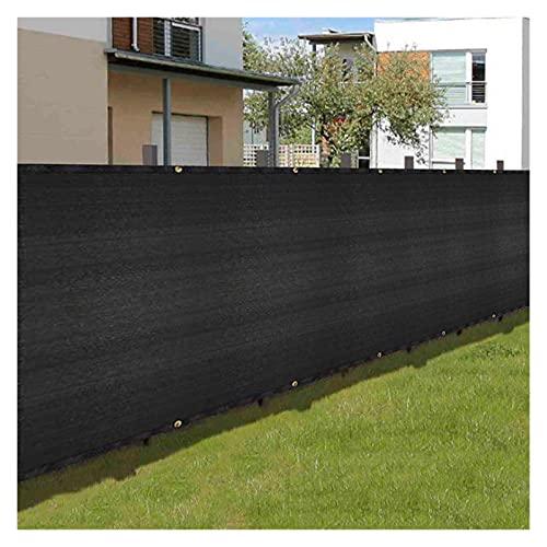 HLLING Balkong Sekretessskärm Svart För Utomhus Staket Carports Byggplats Vindtät Solskydd Väderbeständighet HDPE Med Buntband I Öglan (Color : Black, Size : 1.5x6.5m)