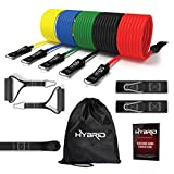 HYBRID Resistance Bands Set 12 Pcs, HEAVY DUTY Fitness Tubes, Up to 150LB