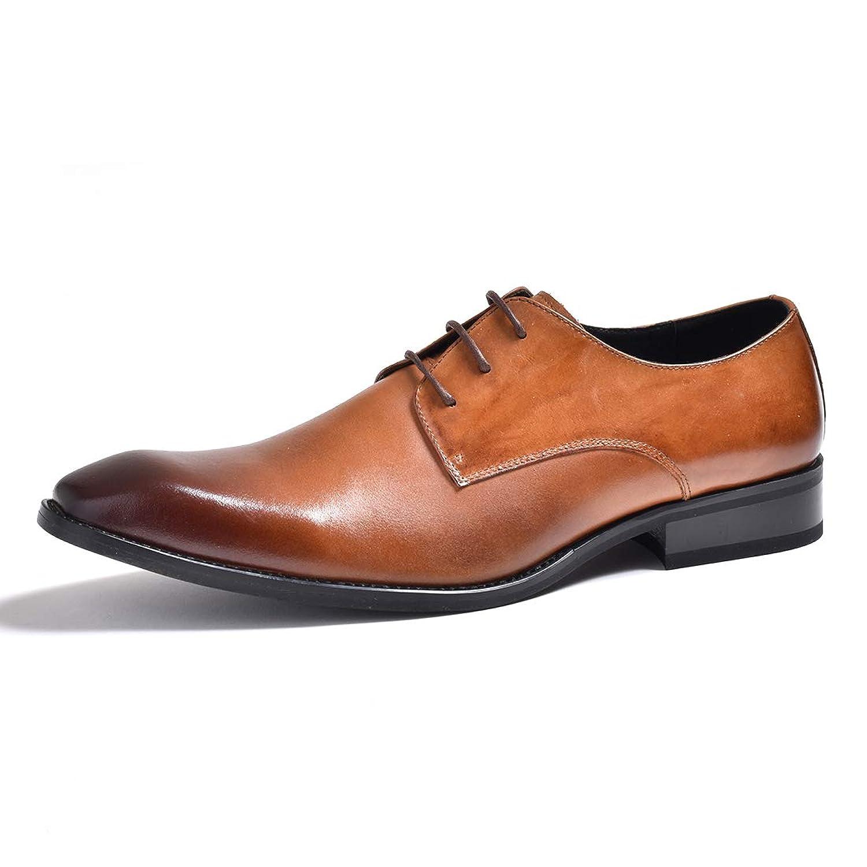 [ルシウス] レザー 革靴 ビジネスシューズ フォーマル 結婚式 メンズ イタリアンデザイン シューズ 紐 黒 茶 本革