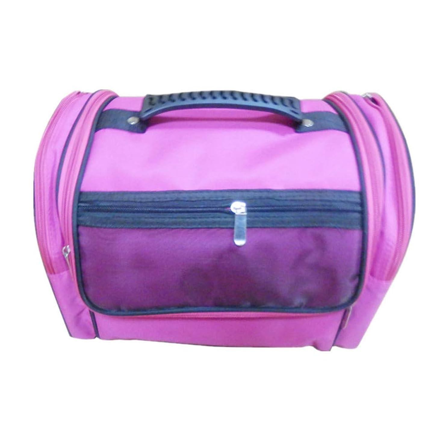 学部第二に蒸留する化粧オーガナイザーバッグ 高容量カジュアルポータ??ブルキャンバス化粧品バッグ旅行のための美容メイクアップとジッパーで毎日のストレージ 化粧品ケース