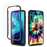 GOLINK Full Body Rugged Shockproof Protective Case with HD Screen Protector for Moto G Power(2020)-Colors