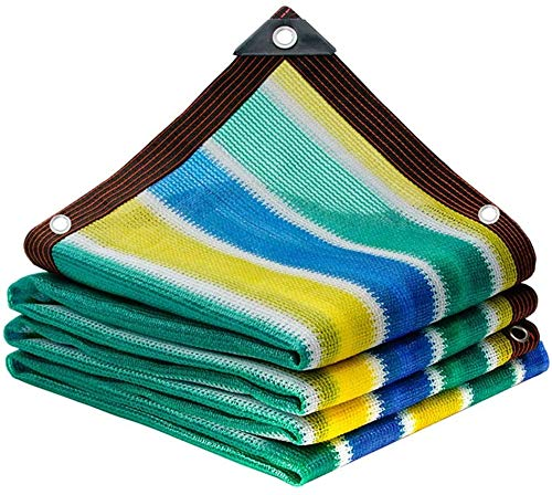 NOOYC Balkon Sichtschutz Grau UV-Schutz, Gewächshäuser Net Double Stitched Markisen Sonnensegel für Barn, Kennel Pergola oder Carport,Colorful_2x2m(6 * 6ft)