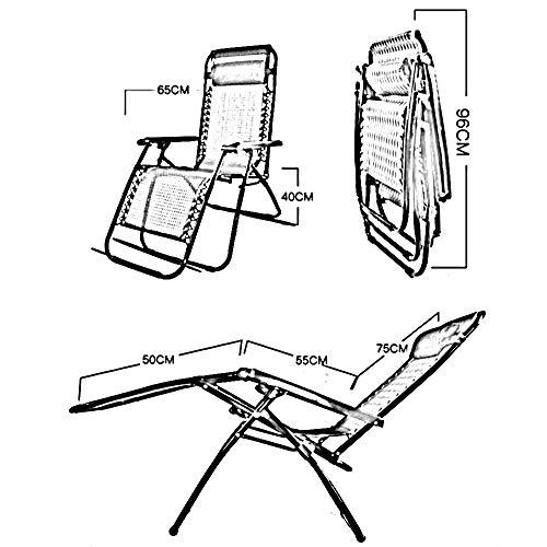 LUO Dormitorio Cama Silla, Estudiante Lazy Chair, Colegio Dormitory Artifact Simple Fashion Siesta Respirable Casual Silla de Playa Respaldo Silla Silla Plegable Sun Loungers Recliners