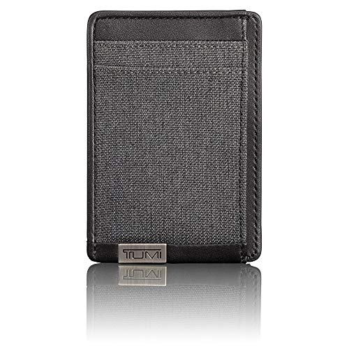 TUMI - Alpha Money Clip Card Case Wallet with RFID ID Lock for Men - Anthracite/Black