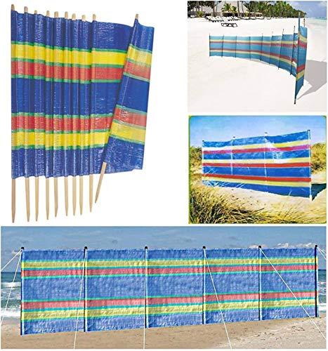 6 m x 1,2 m Beach Windbreak Paravent de plage 10 piquets