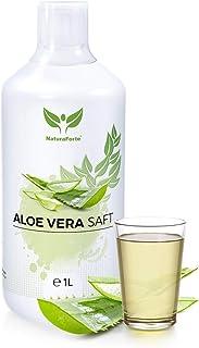 NaturaForte Zumo de Aloe Vera 1L - Premium 100% zumo listo para beber, Aloe barbadensis planta moledora