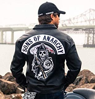SOA Biker Leather Jacket Sons of Anarchy (XSmall)