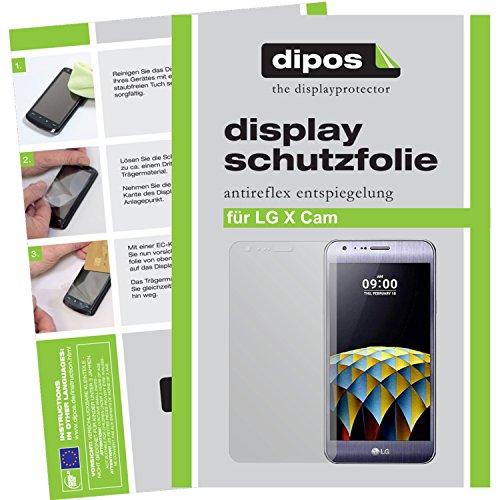 dipos I 6X Schutzfolie matt kompatibel mit LG X Cam Folie Bildschirmschutzfolie