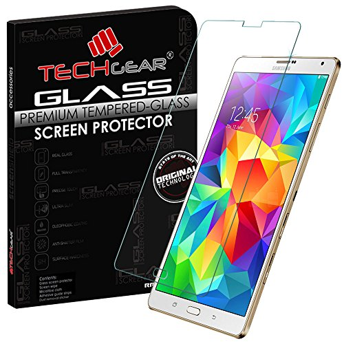 TECHGEAR Panzerglas für Galaxy Tab S 8,4 Zoll (SM-T700/SM-T705 Series) - Panzerglasfolie Anti-Kratzer Schutzabdeckung kompatibel mit Samsung Galaxy Tab S 8,4