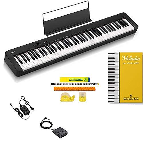 Casio CDP S100, Piano Digitale 88 Tasti Pesati con libro Melodie per Casio e kit cancelleria in omaggio