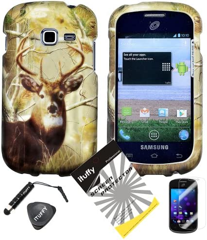 4 items Combo ITUFFY LCD Screen Protector Film Mini Stylus Pen Case Opener Pine Tree Leaves product image