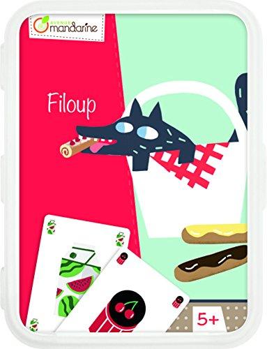 Avenue Mandarine CO106O - Un jeu de 48 cartes Filoup en boite plastique refermable