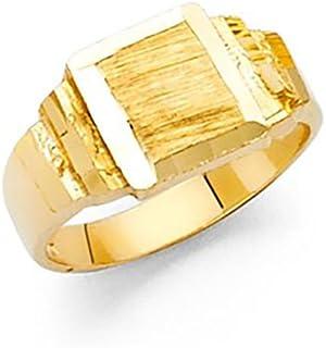 14k Yellow Gold Baby Boy Signet Ring