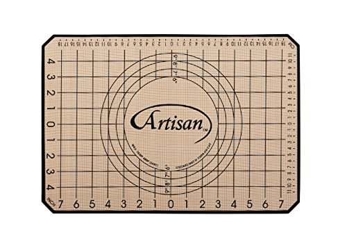 Artisan Silicone Baking Mat for Half-Size Cookie Sheet with Pastry Guide,  16.5 x 11 inches