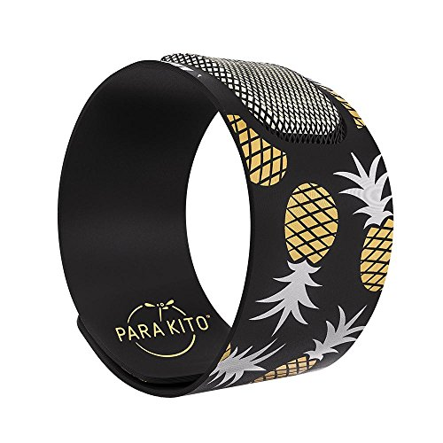 Para'Kito Mosquito Insect & Bug Repellent Wristband - Waterproof, Outdoor Pest Repeller Bracelet w/Natural Essential Oils - Gold Edition Party Wristbands (Manila)