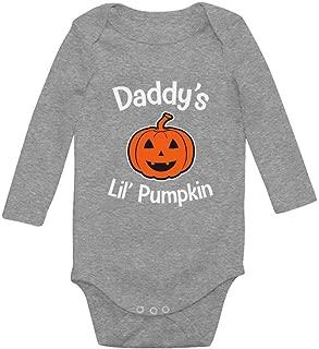 Tstars Halloween Daddy's Lil' Pumpkin Cute Jack O' Lantern Baby Long Sleeve Bodysuit