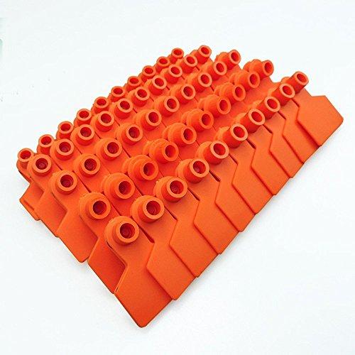 Lot de 100 TPU étiquettes vierges de Pig oreille Plastique Animal Identification étiquettes Porcinet Hog Porcine oreille balises Jaune Vert jaune Bleu Orange