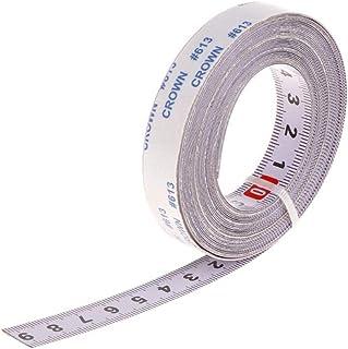 Urisgo Måttband i rostfritt stål, självhäftande metrisk linjal, självhäftande mätband, för T-skena fräs bordscirkelsåg, 1M...