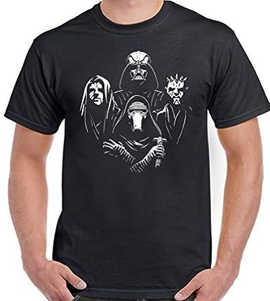 Camiseta para hombre Star Wars Rhapsody, diseño divertido negro negro X-Large