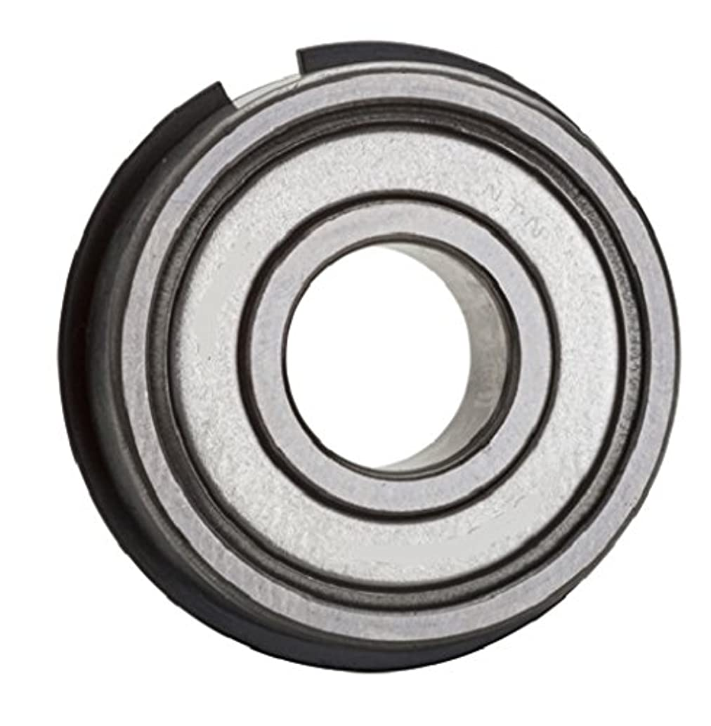NTN Bearing 6008ZZNR Single Row Deep Groove Radial Ball Bearing with Snap Ring, Normal Clearance, Steel Cage, 40 mm Bore ID, 68 mm OD, 15 mm Width, Double Shielded