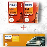 Philips Rally H4 Headlight Bulb (130/100W, 2 Bulbs) and Philips 12003XM H4 Heavy Duty Relay Wiring...