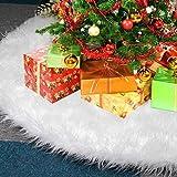 KAHEIGN 78CM Falda De árbol De Navidad, Blanco Como La Nieve Felpa Gruesa Cubierta De La Base Del árbol De Navidad Alfombra Del Piso Para Las Decoraciones Navideñas De Año Nuevo