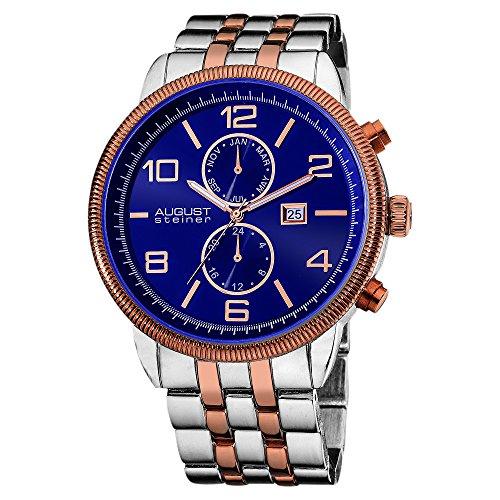 August steiner Herren-Armbanduhr Analog Quarz AS8069BU