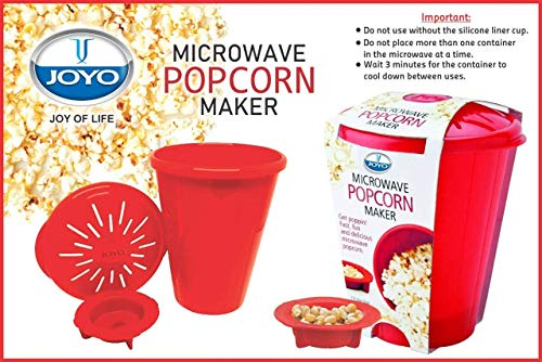ZHP JOYO Popcorn Maker and Popper with Silicone Inner Pot and Lid Microwave Popcorn Maker Kitchen Gadgets Popcorn Maker (Color As Per Availability)