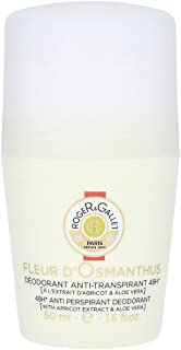 Roger & Gallet Fleur D' Osmanthus 48H Anti Perspirant Deodorant Roll On, 1.6 Ounce