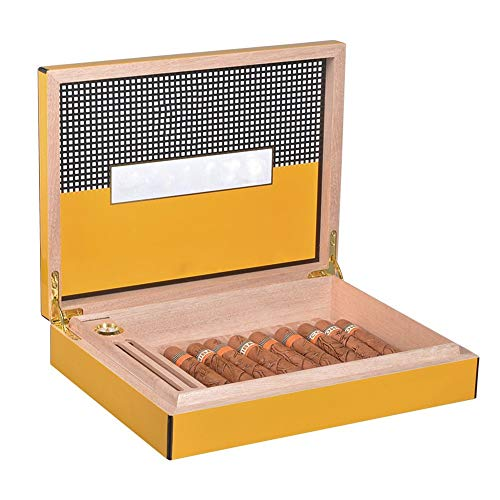 YUIOP Humidor de Cedro, Caja for Travel Club Gabinete Accesorios de Fumar Portátil Humidor de Piezas