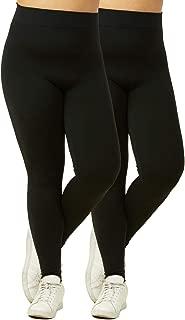 Women's Fleece Leggings Plus Size - 2 in a Pack