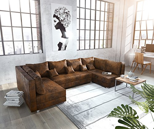 DELIFE Couch Panama Braun Wohnlandschaft modular