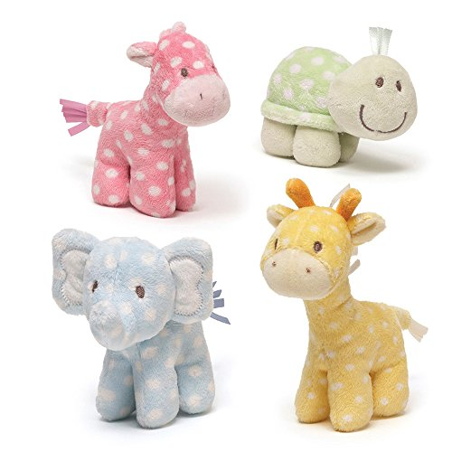 Discover Bargain Gund Lolly and Friends Plush Giraffe Elephant Turtle Horse Rattle (Set of 4)