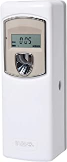 SVAVO Automatic LCD Fragrance Dispenser - Wall Mount/Free Standing ABS Auto Air Freshener Dispenser Programmable Aerosol Spray Perfume Dispenser for Bathroom, Hotel, Office, Commercial Place, White