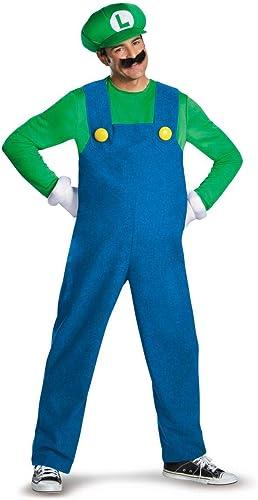 Todo en alta calidad y bajo precio. Disfraz adulto adulto adulto Luigi Deluxe Talla L  Para tu estilo de juego a los precios más baratos.
