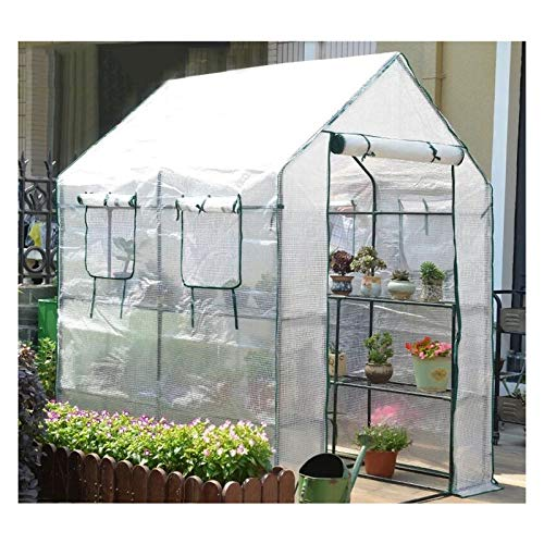 MAHFEI Greenhouses for Outdoors, 2-Tier Patio Walk-in Greenhouse Roller Blind Greenhouse Tent Cover Big Space Good Stability for Outdoor Plants Keep Warm Hot House