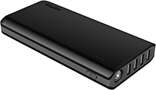 EasyAcc 20000mAh Power Bank(2A Input 4.8A Smart Output) External Battery Charger Portable Charger for Android Phone Samsung HTC Smartphones Tablets - Black and Gray