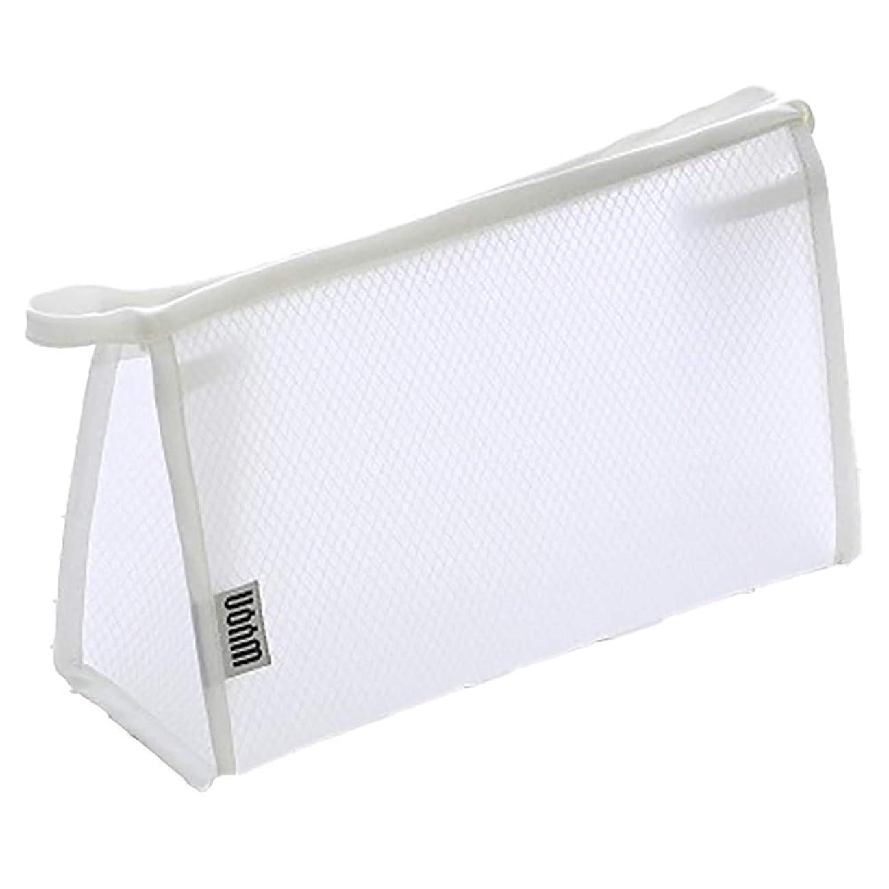 旅嵐ペレグリネーション明確な、透明化粧品メイクアップ化粧品旅行バッグの洗浄ブラシポーチ(白)