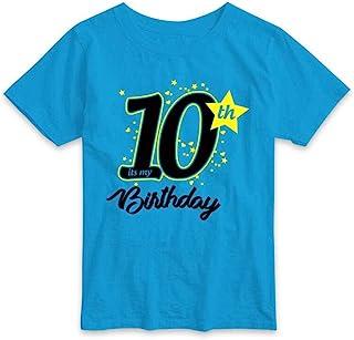 RAINBOWTEES Birthday Celebration,10th Birthday,Age 10 Years t-Shirts for Baby-Kids