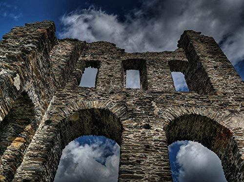 1000 piezas de rompecabezas para adultos, ruinas del castillo, fortaleza, fortificación, ciudadela, juegos de rompecabezas de madera para la familia