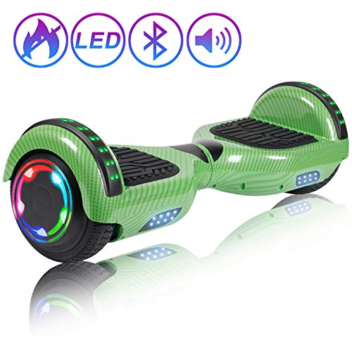 """SISIGAD Bluetooth Hoverboard 6.5"""" Self Balancing Scooter with Colorful LED Wheels Lights Two-Wheels self Balancing Hoverboard Dual 300W Motors Hover Board UL2272 Certified"""